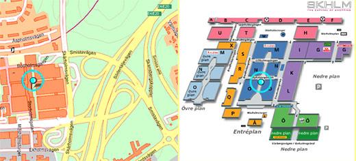 karta över skärholmens centrum Skärholmen centrum butiker karta karta över skärholmens centrum